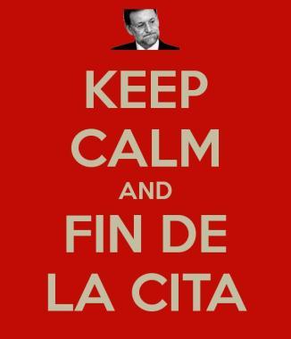 keep calm-fin de la cita