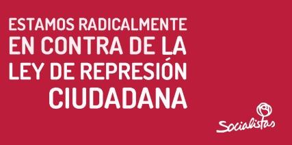 PSOE-represion ciudadan