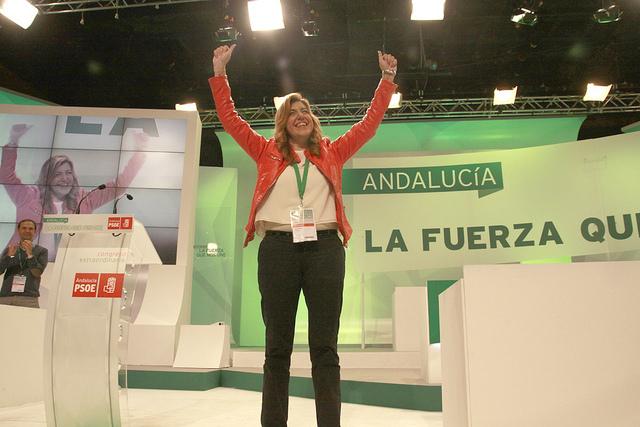 Susana Díaz durante el Congreso (Flickr del PSOE-A)